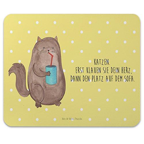 Preisvergleich Produktbild Mr. & Mrs. Panda Mauspad Druck Katze Dose - Katzen, Katze, Kater, Mietze, Cat, Cats, Katzenhalter, Katzenbesitzerin, Haustier, Futter, Katzenfutter Mouse Pad, Mousepad, Computer, PC, Männer, Mauspad, Maus, Geschenk, Druck, Schenken, Motiv, Arbeitszimmer, Arbeit, Büro