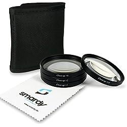 smardy 67mm Dioptries/Close up Macro +1 +2 +4 +10 - Ensemble de filtres INCL. Filtres + Housse pour Filtre Canon EOS 40D | 5D Mark III | 6D | 7D | EOS 1D X - Nikon D5100 | D7000 - Olympus E-30.