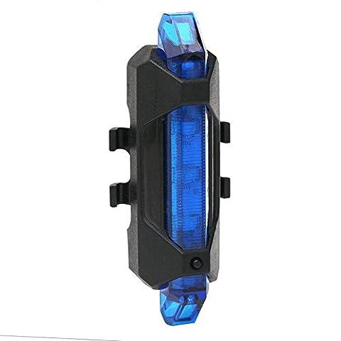 PUGO TOP 5 LED USB rechargeable Faire du vélo arrière Phare arrière 4 Bike Light Chargeur Modes extérieure