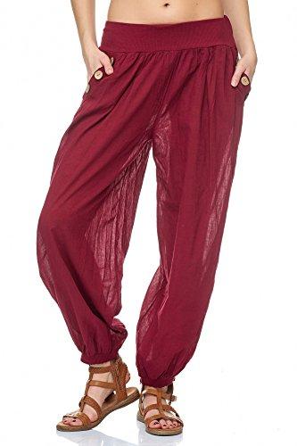 JillyMode -  Pantaloni  - Donna H140-Bordeaux