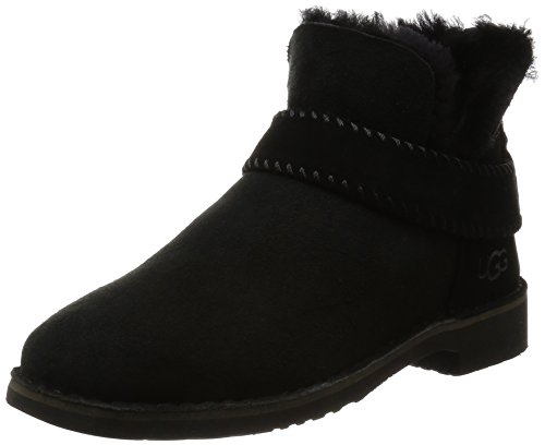 ugg-australia-womens-mckay-womens-black-leather-ankle-boots-in-size-36-black