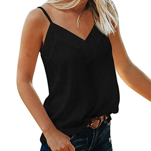Darringls 2019 Femme Été Femmes T-Shirt décontracté Caraco Top en Mousseline avec Épissée Dentelle et Fine Bretelle Vest Tank Tops T-Shirt Camisole Gil