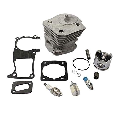 PODOY New pack of 44mm Cylinder Piston Kits Gasket Fuel Filter Spark Plug Decompression Valve for HUSQVARNA 346XP 350 351 353 Chainsaw
