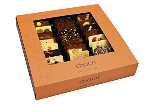 Schokoladige Weltreise von chocri, 24 Mini-Tafeln mit Zutaten aus verschiedenen Regionen der - Pistazien-cashew