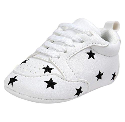 Covermason Kleinkind Baby Weiche Sohle Schuhe Turnschuhe Krippeschuhe (11(Alter: 0 ~ 6 Monate), Schwarz) (Sohle Schuhe Leder Kleinkind)
