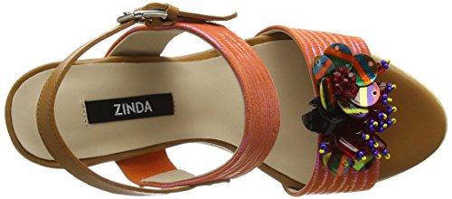 Zinda - 2319, Sandali Donna Arancione (Arancio (arancione))