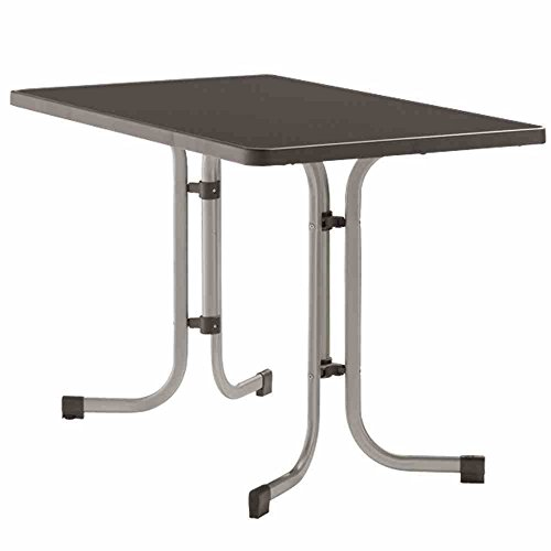 SIEGER 233/A Table de Jardin Rectangulaire Repliable Plateau Décoratif Graphite 115 x 70 x 72 cm