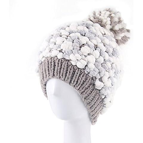 qwer Tappi di inverno bambini cute ragazze cappelli a maglia