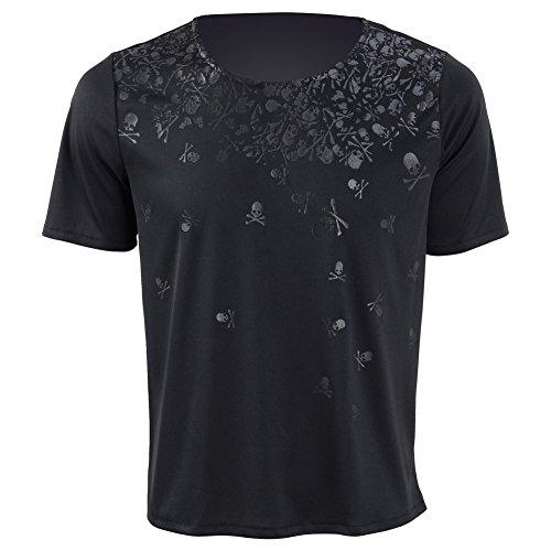 Noctis Kostüm Cosplay - Herren Rundhals Ärmellos T-Shirt Kurzarm T-Shirt Cosplay Kostüm (L, Schwarz Kurzarm 2)