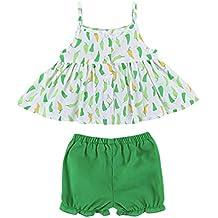 Conjuntos Para Bebé NiñAs DRESS Start® Ropa Impresión De chile Sin Mangas + Pantalones Cortos