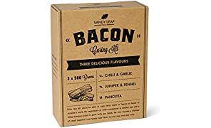 Bacon Curing Kit - Cure Your own Bacon in Three Delicious Flavours - Pancetta, Fennel & Juniper and Chilli & Garlic