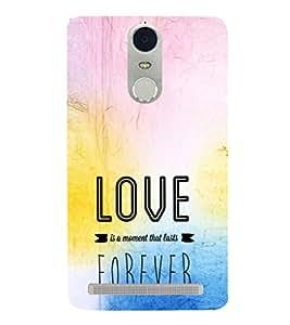EPICCASE Moment to last Forever Mobile Back Case Cover For Lenovo K5 Note (Designer Case)