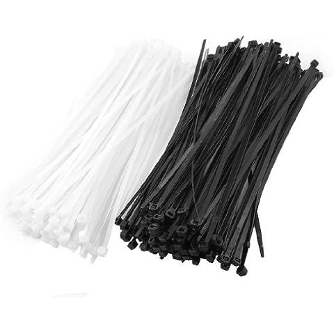 350 Piezas 4mmx300mm Plástico Cable De Alimentación Cable Ataduras De Cremallera Tiras