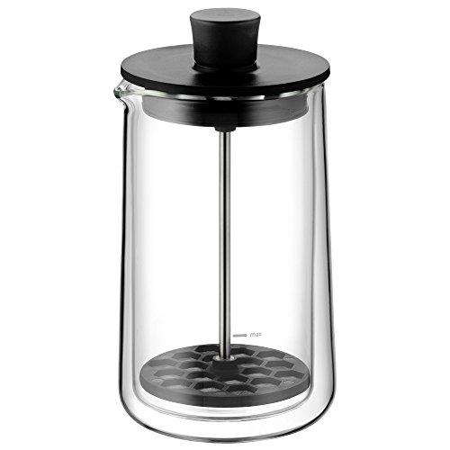 Hot Chocolate Maker (WMF CoffeeTime Milchaufschäumer 17 cm, hitzebeständiges Glas, spülmaschinengeeignet, mikrowellenfest)
