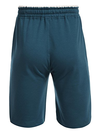 Untlet Herren Schlafanzughosen Jersey Pocket Knit Schlaf Shorty Navy blau6503