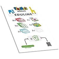 Play maíz 160237–eduline Mosaic Bloque de enseñanza eduline,–Cuaderno de Espiral con 45páginas, Juego de Manualidades
