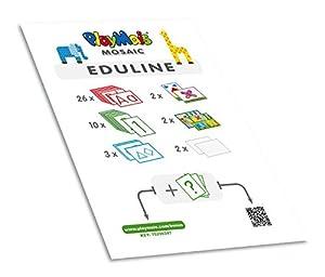 Play maíz 160237-eduline Mosaic Bloque de enseñanza eduline,-Cuaderno de Espiral con 45páginas, Juego de Manualidades