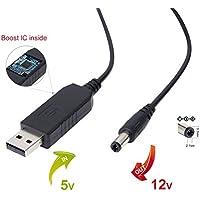 1m USB 5V DC a DC 9V 12V 2.1mm x 5.5mm modulo convertitore DC Barrel cavo di alimentazione per presa connettore maschio DC 5V to 12V