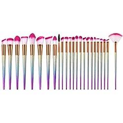 Berimaterry ❤️ Jeu De Pinceaux De Maquillage 9/10/15/16/24 Pcs Jeu De Pinceaux De RéCurage Coniques Haut De Gamme avec Pinceau De Maquillage Multifonctions avec Manche en Plastique