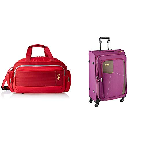 Skybags Cardiff Polyester 55 cms Red Travel Duffle + Footloose Rubik Polyester...