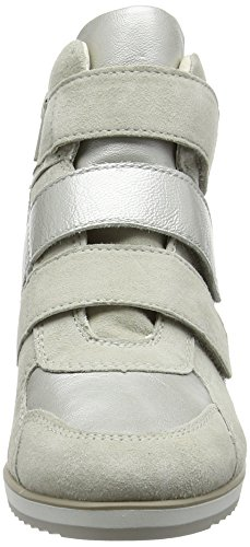 Geox Damen D Illusion D High-Top Weiß (ivory/platinumc0997)