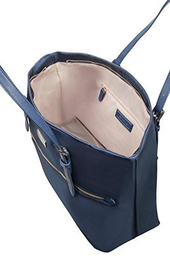 SAMSONITE Karissa - Shopping Bag M Borsa da spiaggia, 38 cm, Rosso (Formula Red) DARK NAVY
