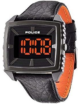 Police Herren-Armbanduhr Digital Quarz Leder PL.13890JPBU/02