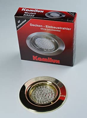 10 X Led Einbauleuchte Einbauspot Gold 60er Led-spot Tom 230v Warmweiss von Kamilux GmbH