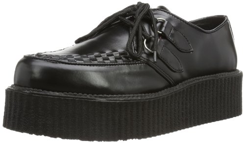 Demonia V-CREEPER-502 - 0 Hombre, Negro (Blk Vegan Leather), 45