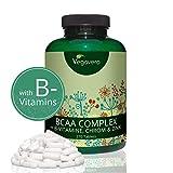 BCAA 5000 Vegavero Sport | BCAA Vegan avec Vitamines B + Chrome + Zinc | Leucine + Isoleucine + Valine | Sans Gélatine et Sans Additifs | Récupération Musculaire et Endurance | 270 comprimés