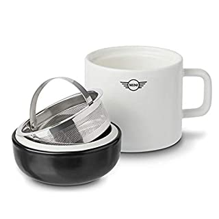Mini Original Tea-Maker Teeset Tasse Sieb Untertasse weiß/schwarz Kollektion 2018/2020