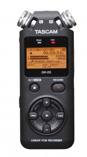 Tascam DR-05 V2 - Grabación de Audio en HQ, MP3, WAV, 32 - 320 Kbit/s, LCD, Naranja, USB