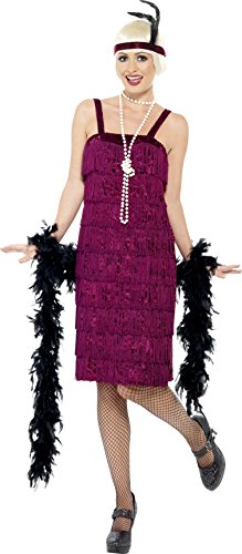 Rot mit Kleid und Stirnband, Medium (Jazz Flapper Halloween Kostüm)