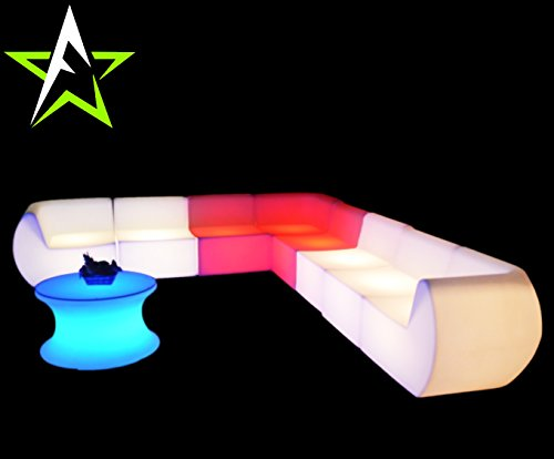 LED LOUNGE SOFA LEUCHTMÖBEL COUCH CUBE NEW DESIGN IN/OUTDOOR CLUB PARTY TREND NEW 2016 DESIGN