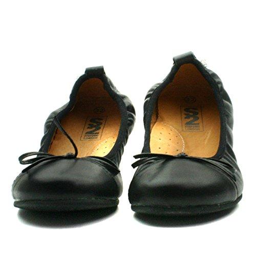 LORENA Step2wo School Shoe Ballet for Girls >      > Chaussure école de style de ballet pour les filles Black Lea (noir)