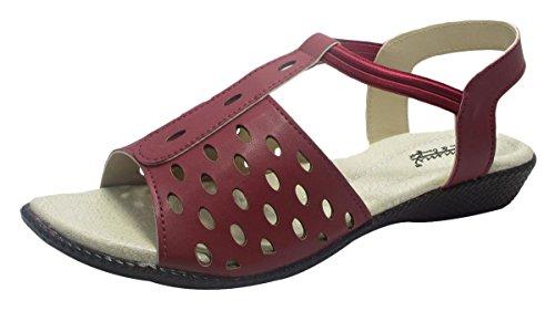 Sammy mode casual en plein air sandales plates des femmes Floater tongs Bordeaux