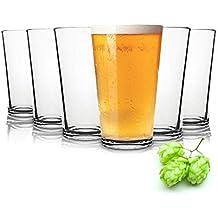 Tivoli Liverpool Vasos de Cerveza - 490 ML - Conjunto de 6 - Gafas Lavavajillas -