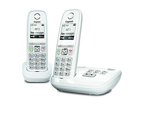 Gigaset AS470A Duo - Téléphone fixe sans fil - Répondeur - 2 combinés - Blanc