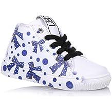 BE KOOL - Chaussure à lacets blanche en cuir, inspirée par le monde de l'art urbain, Fille, Filles, Femme, Femmes-32