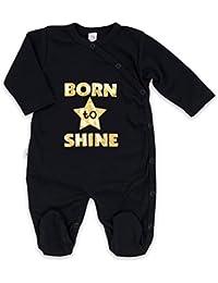 Pelele Pijama Unisex Negro Oro Born to Shine