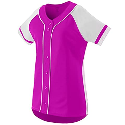 Augusta Sportswear GIRLS' WINNER SOFTBALL JERSEY S Power Pink/White (US)
