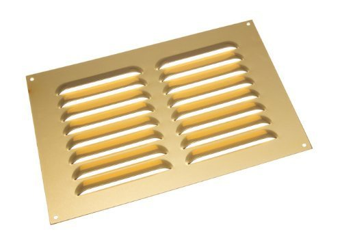 Aluminium gold Raster Gitter ventilation Deckel 9 x 6 Zoll (Packung mit 3)