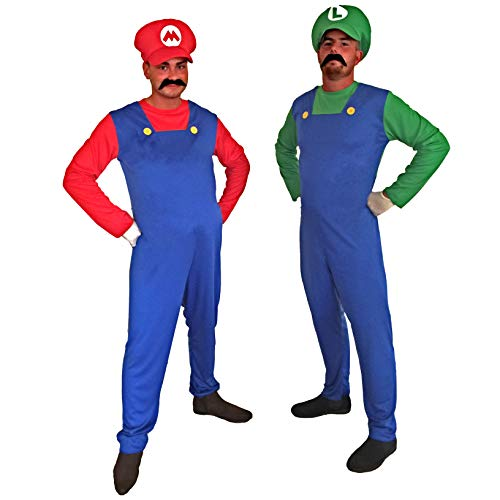 Adults Mario and Luigi Costumes for Couples