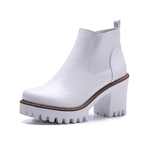 ies Plateau Sandalen mit Keilabsatz, Weiß - Weiß - Größe: 40 (Plataform Stiefel)
