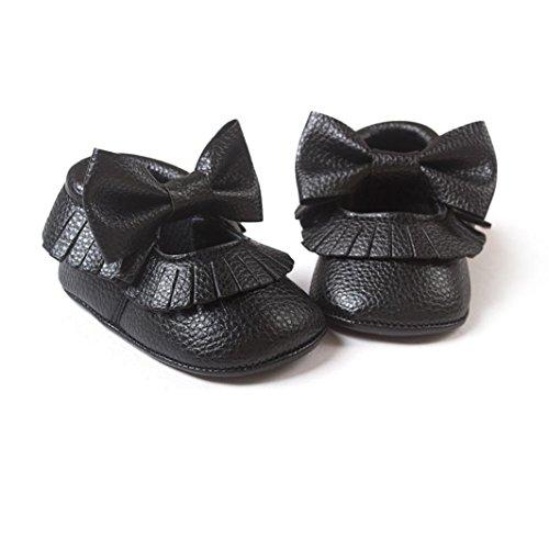 Hunpta Babyschuhe Mädchen Lauflernschuhe Baby Mädchen Bowknot Quasten Schuhe Kleinkind weiche Sohle Turnschuhe Freizeitschuhe (12, Weiß) Weiß