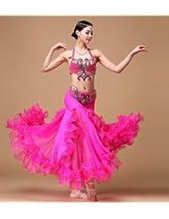vientre traje trajes de baile de la mujer de lujo , l , rose red