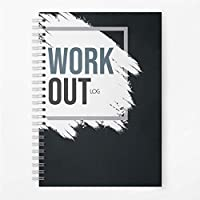 Aspire Products - Cuaderno de registro de entrenamiento, tamaño A5, tamaño A5, registro de progreso de entrenamiento, color negro