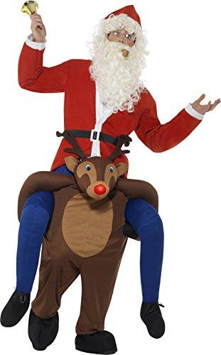 Smiffy' s–Costume da renna Rudolf, 49669, marrone, taglia unica