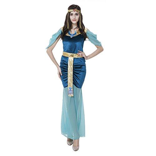 VENI MASEE Sexy Aladdin Wunderlampe, Prinzessin Margaret Märchen, griechische Göttin, Indian Queen Fancy Halloween-Kleid-Kostüm - - Griechische Prinzessin Kostüm