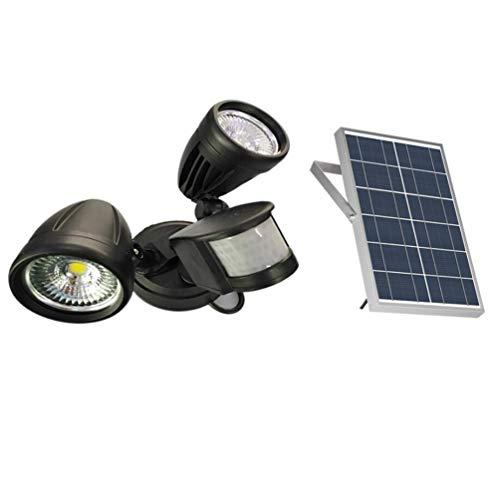FENNGG 1400LM LED Luz Solar de Seguridad de Sensor de Movimiento con 2 Cabezales de luz Ajustables, Impermeable IP65, Uso al Aire Libre como Entradas, Patios, Garajes, etc,Whitelight
